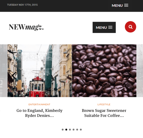 NewMagz- A responsive Magazine based WordPress theme