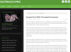Outreach Pro- Page layout with Sidebar-Content pattern