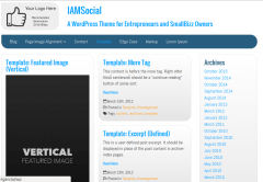 Page templates of iamsocial