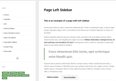 Page with left sidebar