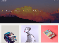 Parallax header 3 column of Agenzy theme