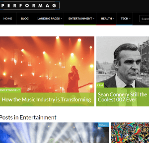 Performag- A responsive Magazine theme of WP