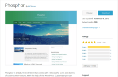 Phosphor WordPress Page