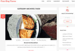 Plain Blog Food Page