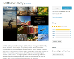Portfolio Gallery WordPress Page