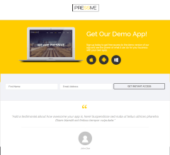 Pressive- A lead generation page as landing page