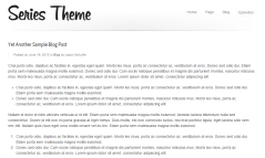 Sample blog page of Series theme