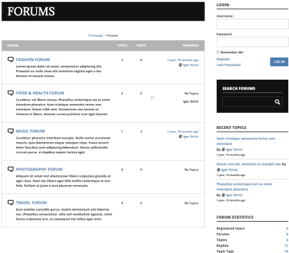 ShockMag- Forum's page with BBPress plugin