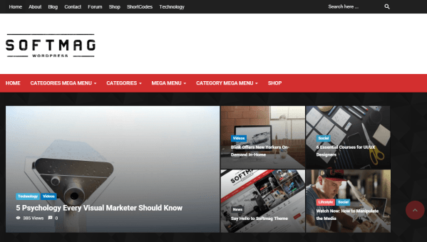 SoftMag- Front page featured with slider