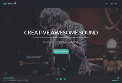 Sound Music Theme Home Page