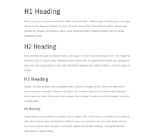 Spiced Blog showing typography