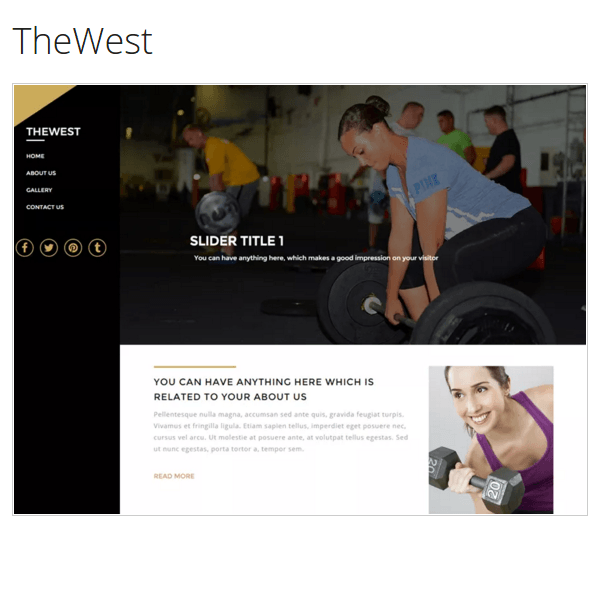 TheWest WordPress Theme