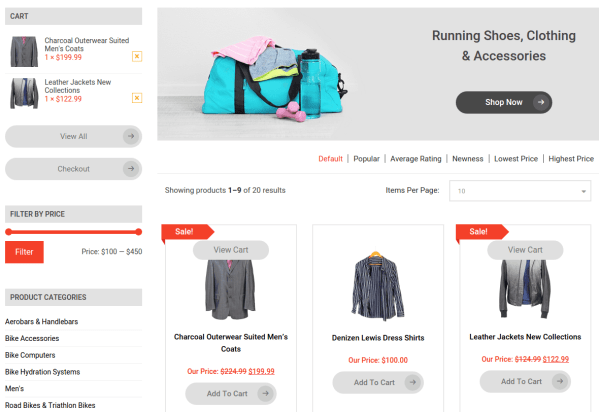 Triathlon Shop Page