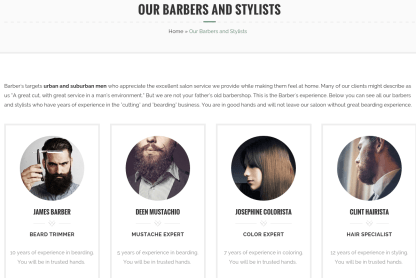 Trimmer Stylists Page