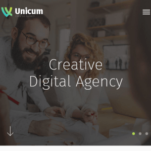 Unicum- A creative One Page WordPress theme