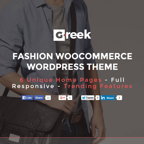 VG Greek – Fashion WooCommerce WordPress Theme