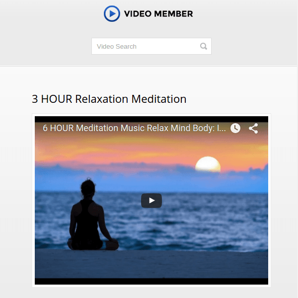 Video Member WordPress Membership Theme