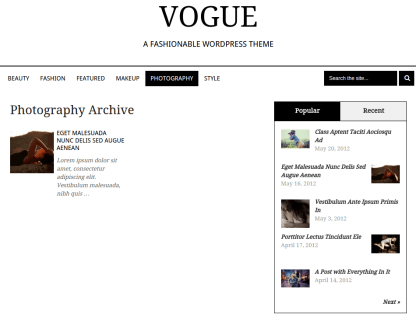 Vogue Photography Page