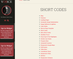 Voice – Generated shortcodes for this theme
