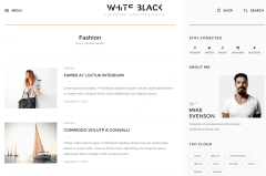 WhiteBlack Fashion Page