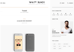 WhiteBlack Travel Page