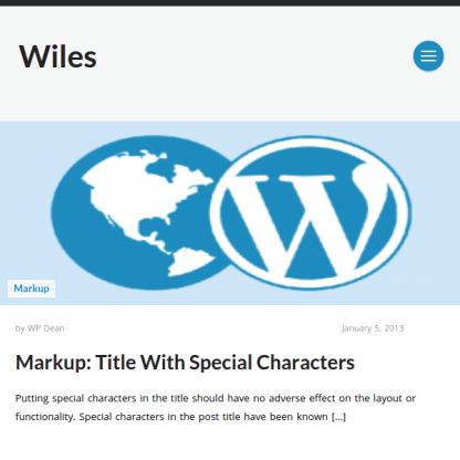Wiles WordPress Theme