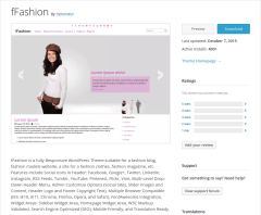fFashion WordPress Page