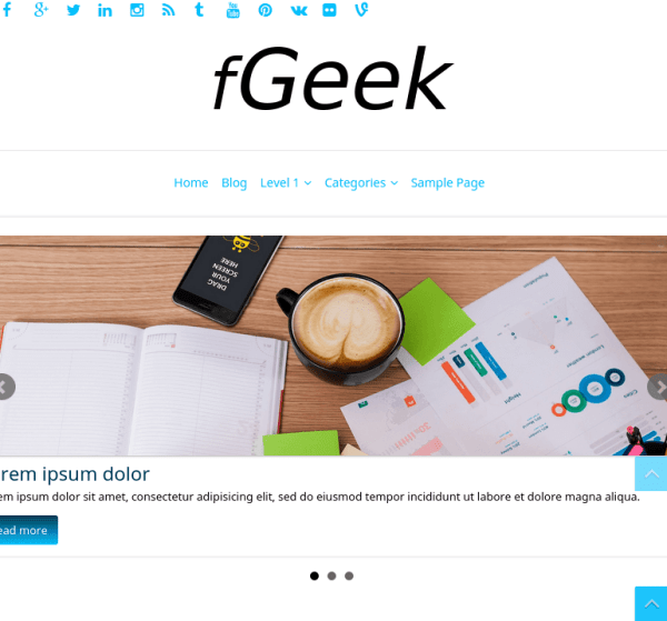 fGeek-WordPress-theme