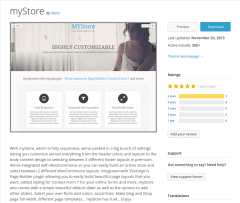 myStore WordPress Page