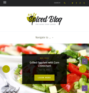 Spiced Blog - WordPress Blogging theme