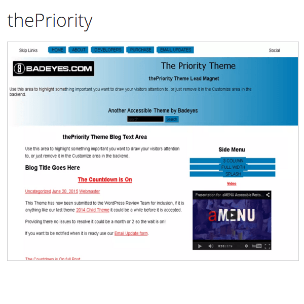 thePriority WordPress Page