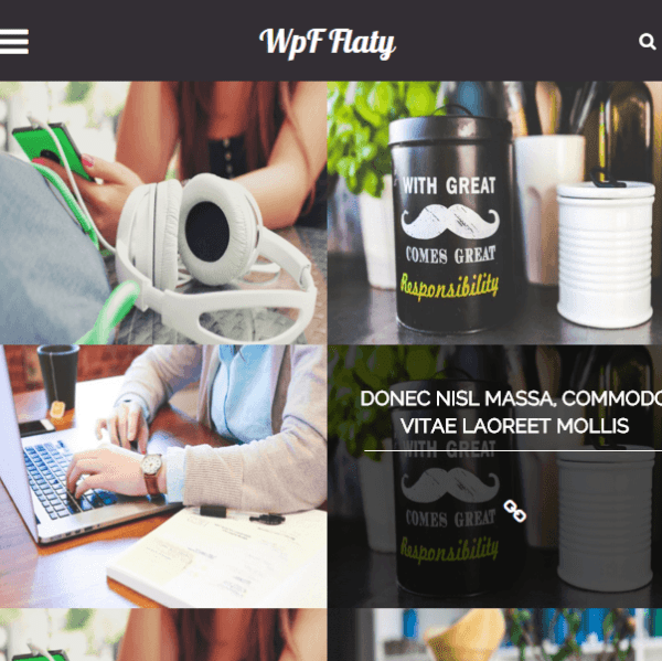 wpf flaty- A WordPress theme suitable for photography and blogging