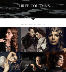 3 columns gallery page – Chandelier