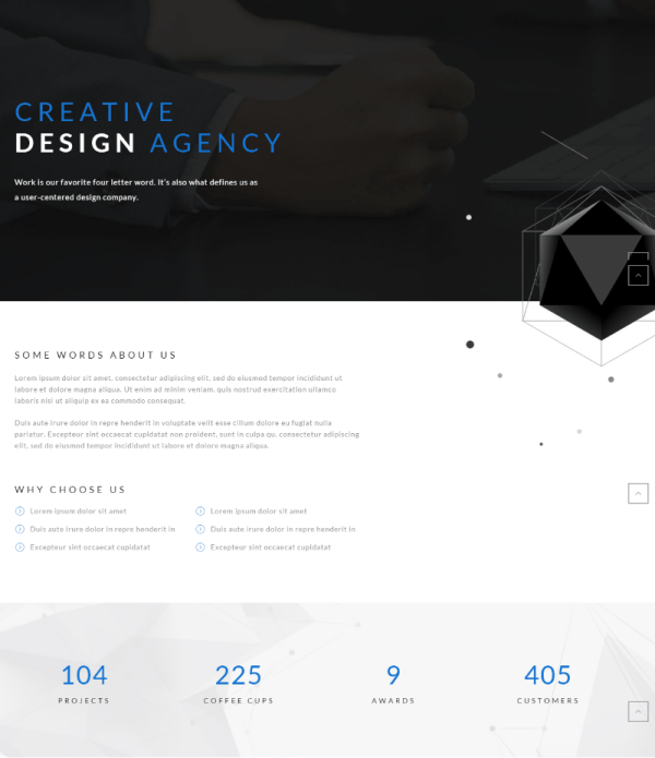 About our company page of Polygon theme.