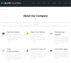 About page of EliteMasters