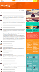 Activity page of UnitedCommunity theme