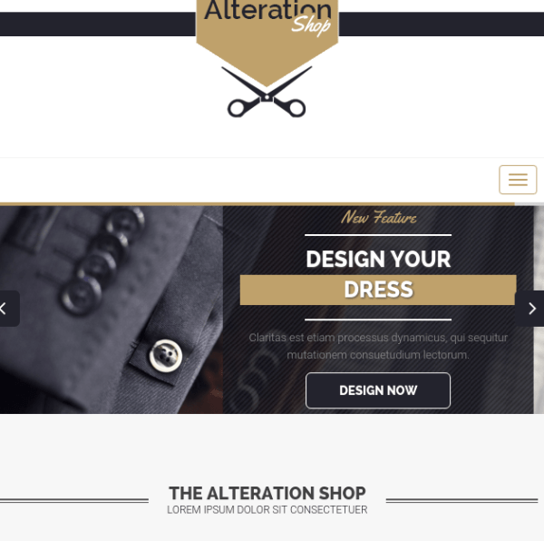 Alteration Shop Theme