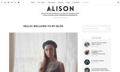 Anne Alison About Me Page