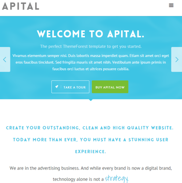 Apital – Responsive Business WordPress theme.