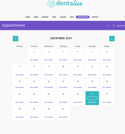 Appointment Page - Dentalux