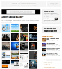Archives image gallery of WP-Critique theme
