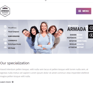 Armada - Responsive Photography WordPress theme