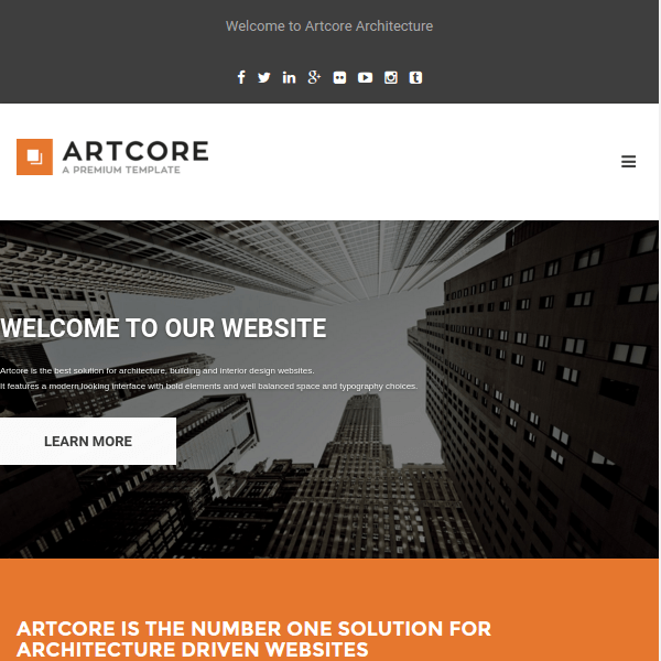 Artcore – Building Architecture WordPress Theme