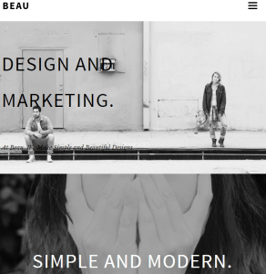 Beau - Portfolio WordPress theme.