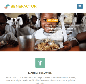 Benefactor - Multipurpose WordPress theme for NonProfit websites png