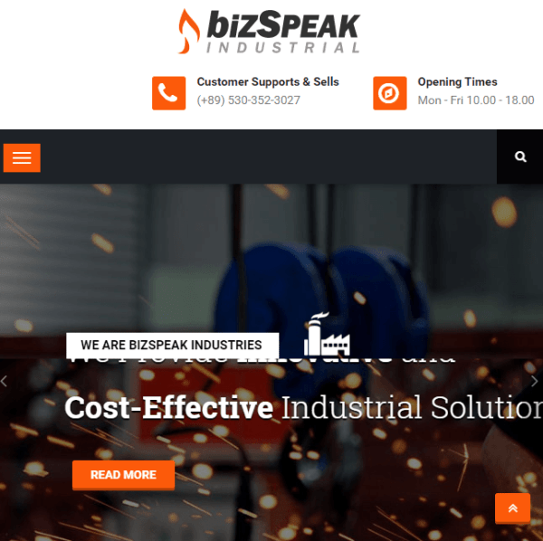 Bizspeak – Clean and Professional Business WordPress theme