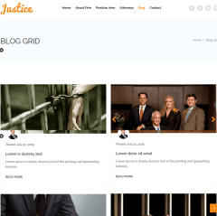 Blog Grid layout of Justice