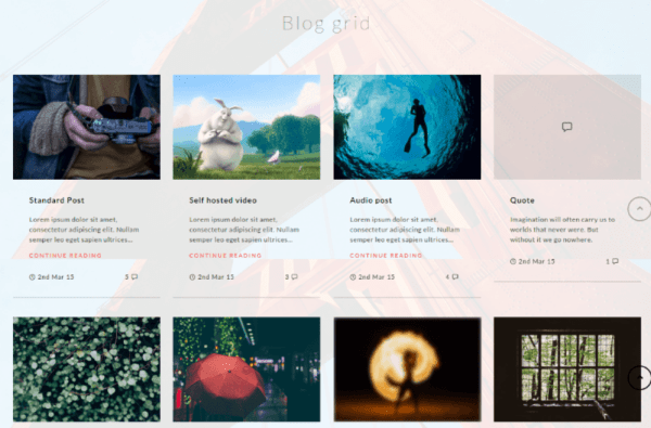 Blog grid Kinetika Theme