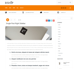 Blog page of Bishop theme