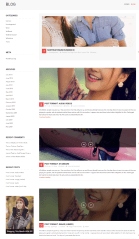 Blog page of Fashion Feast theme
